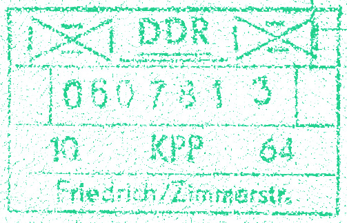 DDR Checkpoint Charlie Passport Stamp