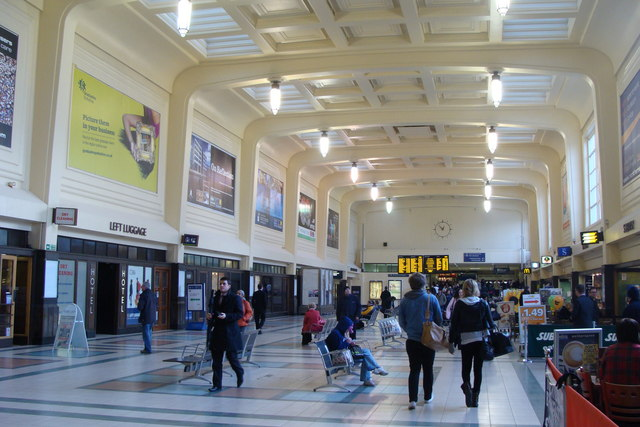 Leeds City railway station concourse