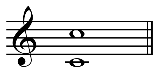 Perfect octave on C