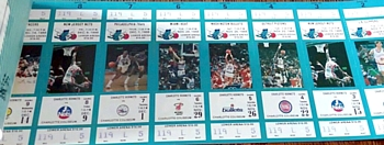 1988-89 Charlotte Hornets Season Ticket Book 01
