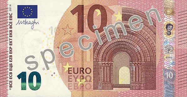 EUR 10 obverse (2014 issue)