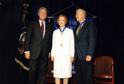 Jimmy and Rosalynn Carter receive Presidential Medal of Freedom