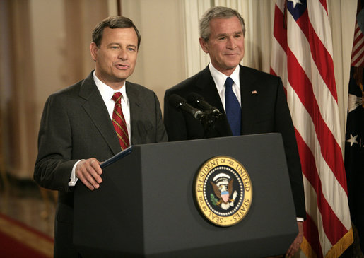 Roberts, Bush SCOTUS announcement