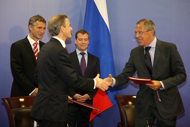Signing of the Russian-Norwegian Treaty on Maritime Delimitation and Cooperation in the Barents Sea and the Arctic Ocean.