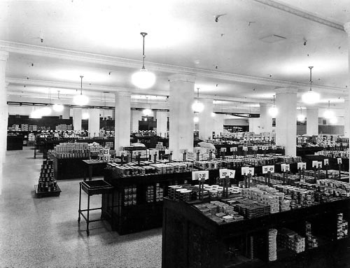 Grocery department in basement of T. Eaton's company, Calgary, Alberta