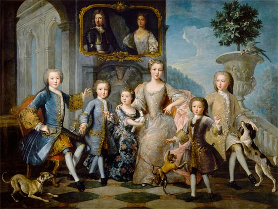 The Family of the Duke of Valentinois, Pierre Gobert