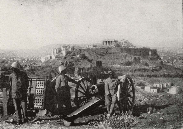 French troops in Athens, 1916