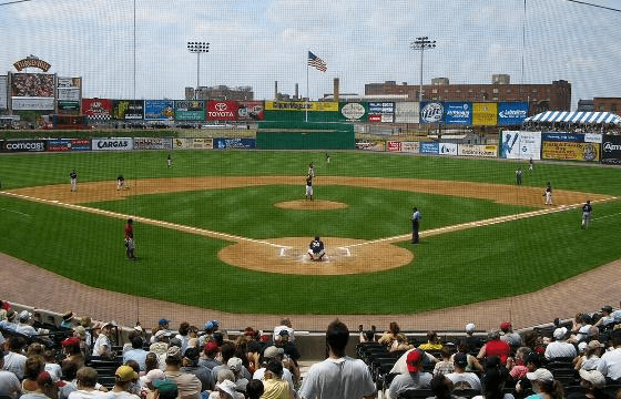 Infield of Clipper Magazine Stadium (Lancaster, Pennsylvania)