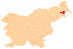 Location of the Municipality of Ljutomer in Slovenia