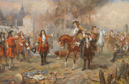 The Duke of Marlborough greeting Prince Eugene of Savoy after their victory at Blenheim