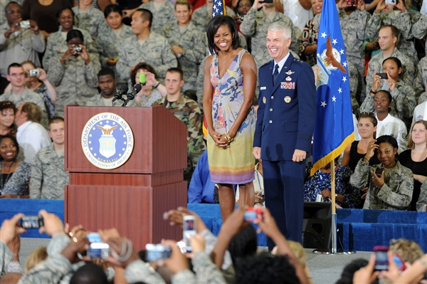 US Army 53373 First Lady Embarks on Mission to Help Military Families