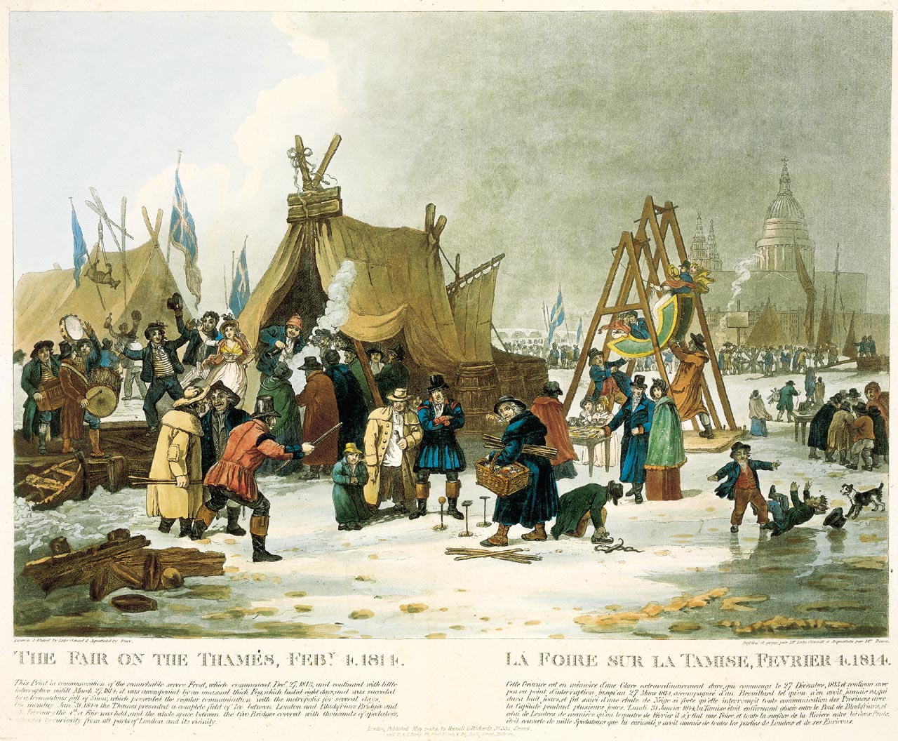 Frost Fair of 1814 by Luke Clenell