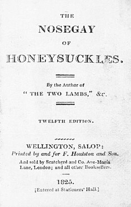 Nosegay of Honeysuckles by Lucy Lyttelton Cameron, 1825 print