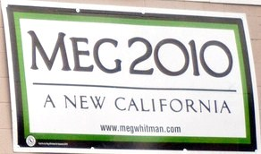 Meg Whitman 2010 Sign