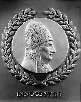 Innocent III bas-relief in the U.S. House of Representatives chamber