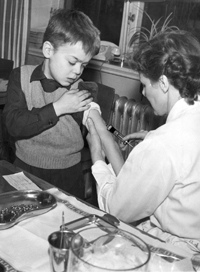 Polio vaccination in Sweden 1957
