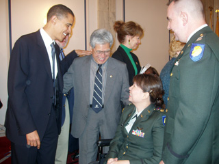 Barack Obama, Daniel Akaka, and Tammy Duckworth
