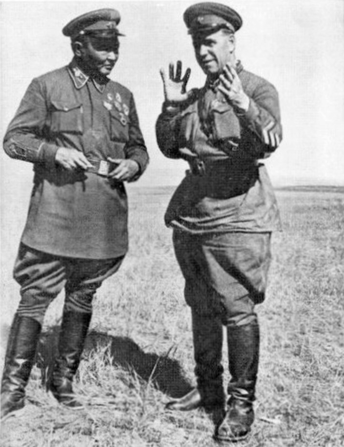 Khalkhin Gol George Zhukov and Khorloogiin Choibalsan 1939