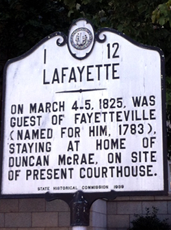 Lafayette information sign