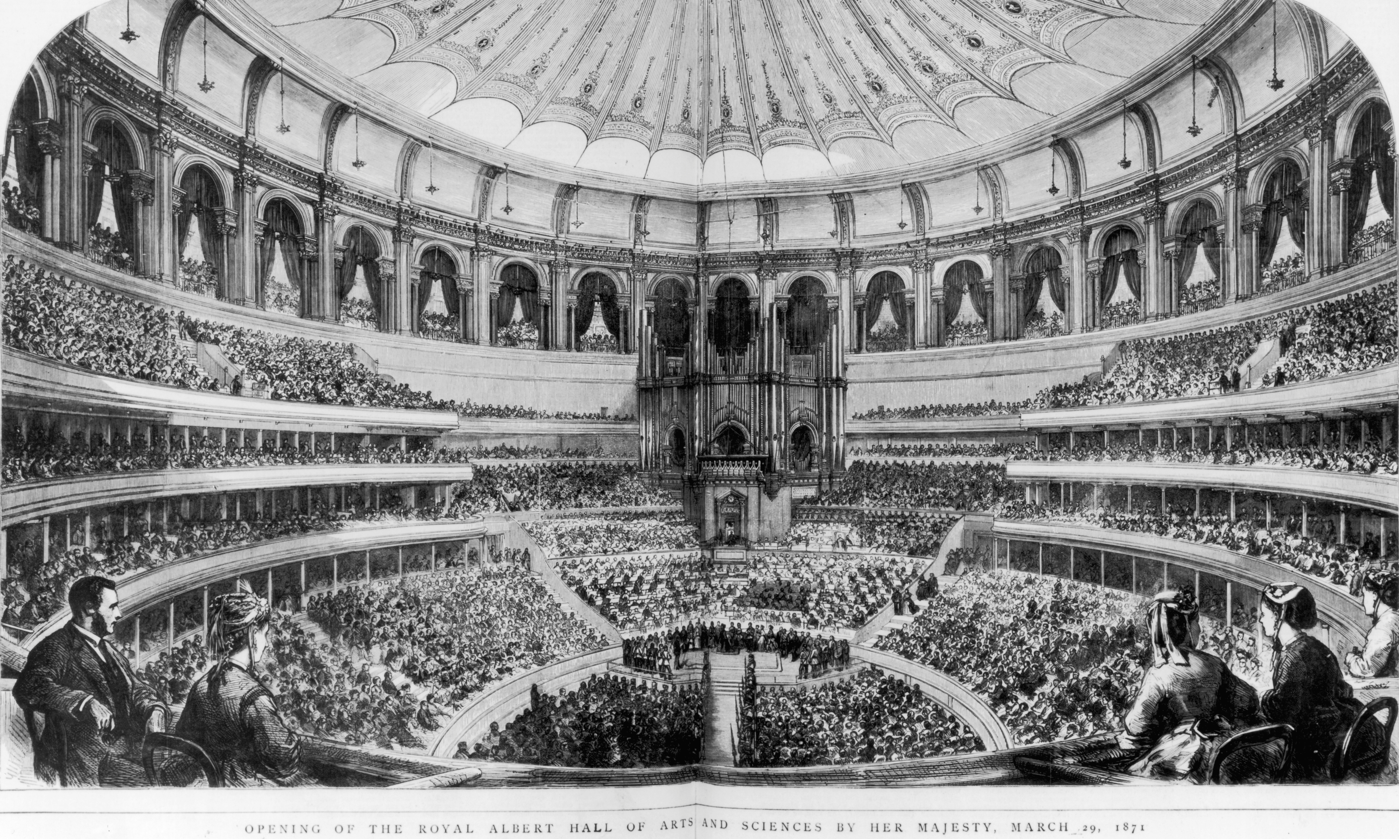 RAH Grand Opening by Queen Victoria 29 March 1871 The Graphic