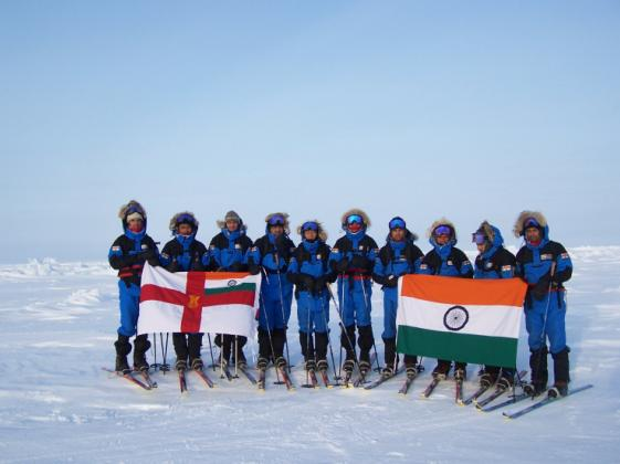 Indian Navy at the North Pole
