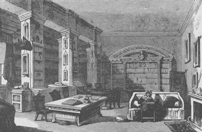 Library at Edgeworthstown House 1888