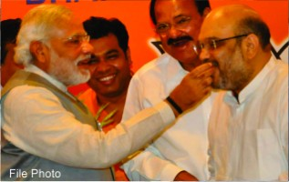 Modi congratulates Amit Shah as he becomes BJP President