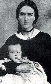 Josepha Carson with son