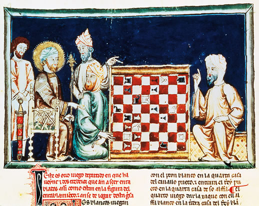 Moors from Andalusia playing chess