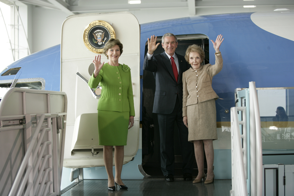 George W. Bush Tours Air Force One