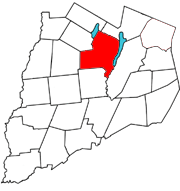 Otsego County map with the Town of Otsego in Red
