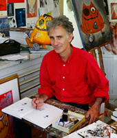 Hobbs in his studio, 2010