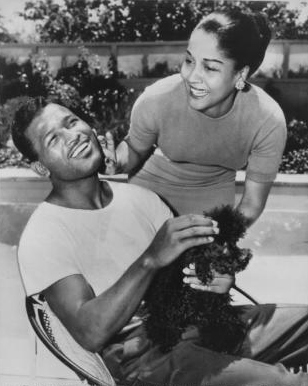 Sugar Ray Robinson with wife 1956