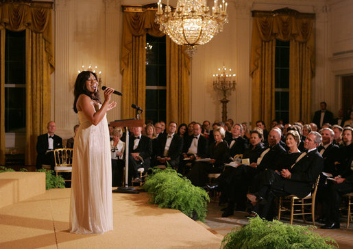 Melinda Doolittle performs in the East Room of the White House