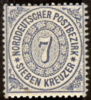 Stamp of North German Confederation