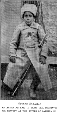 WW1 Armenian volunteer 13 years old at battle of sarikamish