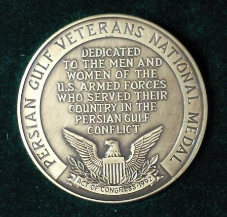 Persian Gulf Veterans National Medal of US