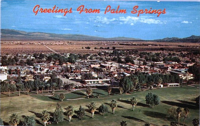 Greetings from Palm Springs - Golf Course postcard (1960s)