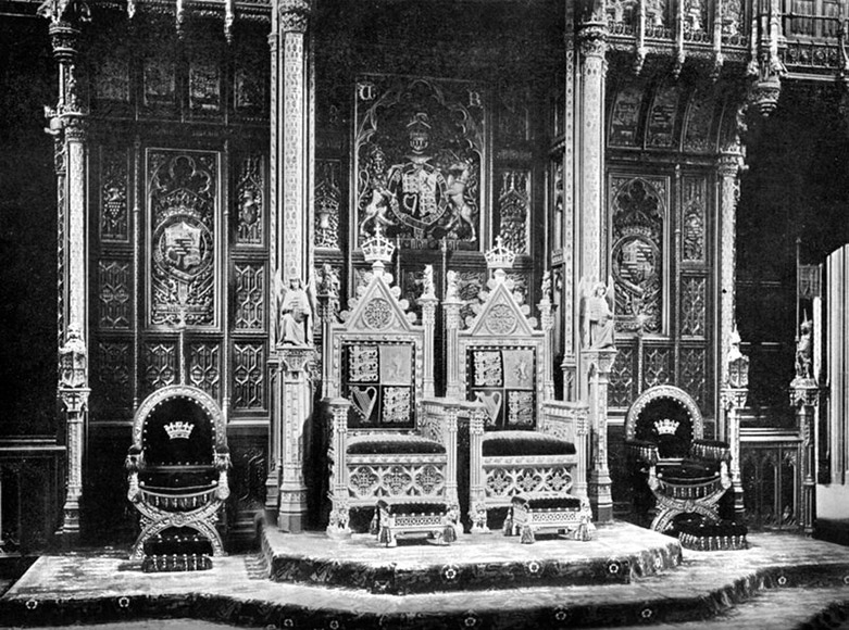Thrones in the House of Lords c1902