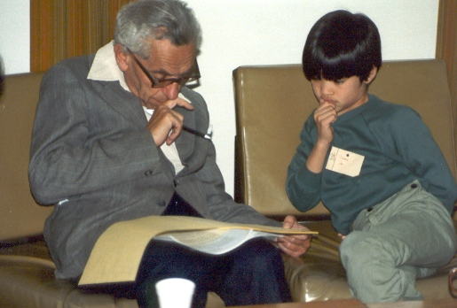 Paul Erdos with Terence Tao