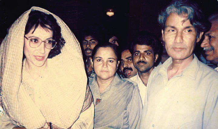 MRD Leaders Benazir Bhutto and Rasool Bux palijo at Palijo House Thatta