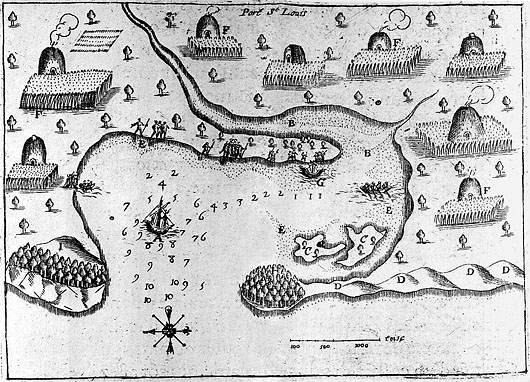 Champlain's Map of Plymouth Harbor