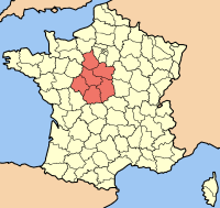 Centre-Val de Loire map
