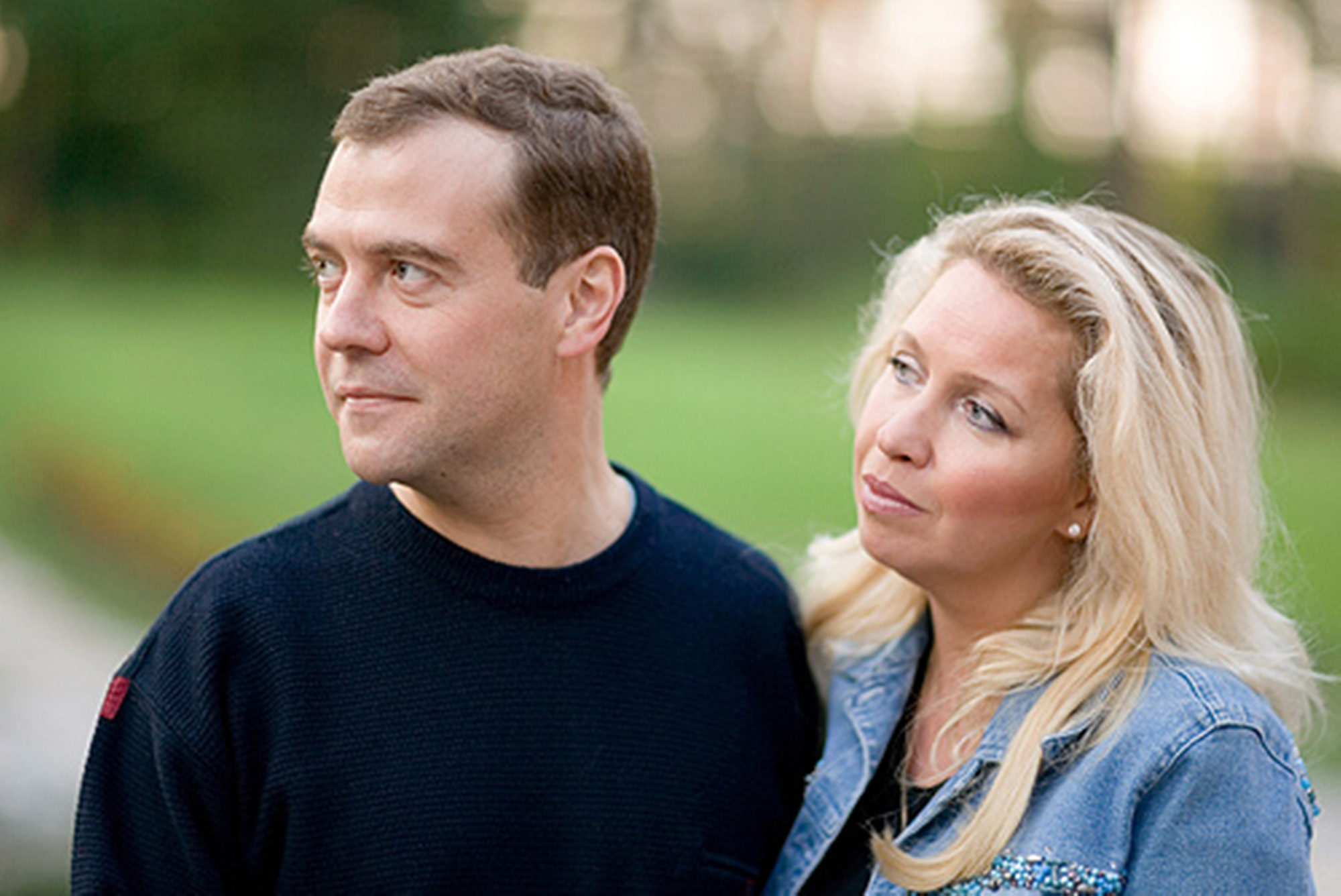 Dmitry Medvedev and his wife Svetlana Medvedeva