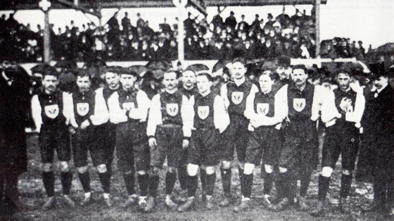 German national team at its first official international match in 1908