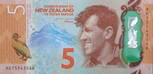 New Zealand 5 Note Sixth Issue