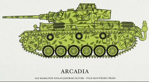 Poster of Arcadia leafy tank by Ian Hamilton Finlay and George Oliver 1973 screenprint