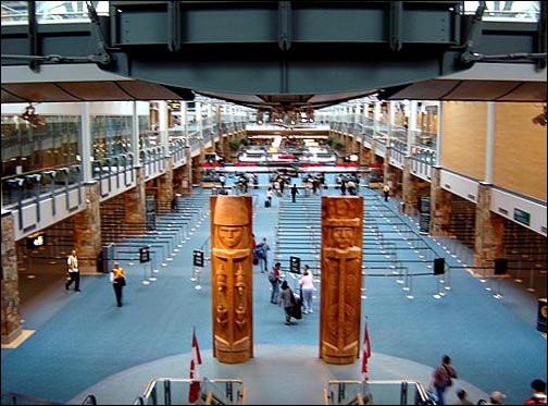 Vancouver Airport Inside