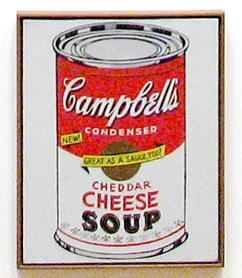 Cheddar Cheese crop from Campbells Soup Cans MOMA