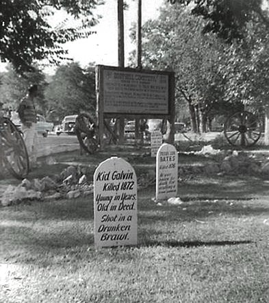 Graves at Boot Hill, Dodge City, KS, 1959(1)